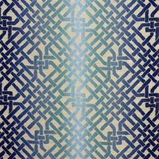 Teal Lattice Decorator Fabric by Groundworks