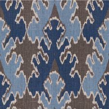 Grey/Indigo Print Decorator Fabric by Groundworks