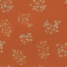 Pumpkin Botanical Decorator Fabric by Groundworks