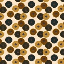 Gold Dots Decorator Fabric by Groundworks