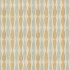 Aqua Ikat Decorator Fabric by Groundworks