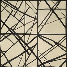 Ebony/Ivory Modern Decorator Fabric by Groundworks