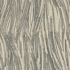 Ebony/Oatmeal Contemporary Decorator Fabric by Groundworks