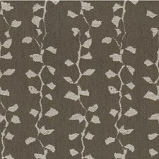Taupe Botanical Decorator Fabric by Groundworks