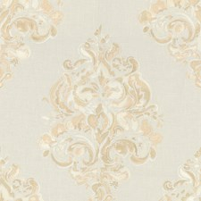 Cream Damask Decorator Fabric by Groundworks