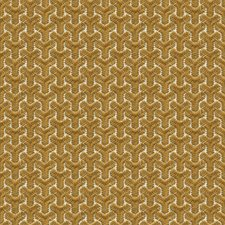 Gold/Ivory Geometric Decorator Fabric by Groundworks