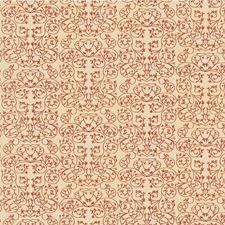 Cerise Botanical Decorator Fabric by Groundworks