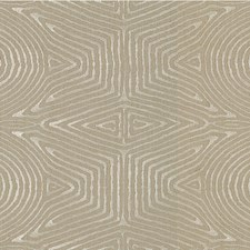 Flax/Silver Contemporary Decorator Fabric by Groundworks