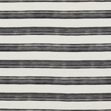 Ivory/Onyx Stripes Decorator Fabric by Groundworks