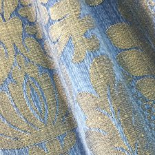 Bleu Decorator Fabric by Scalamandre