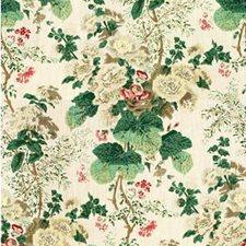White/Brown Print Decorator Fabric by Lee Jofa