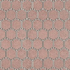 Pink Geometric Decorator Fabric by JF