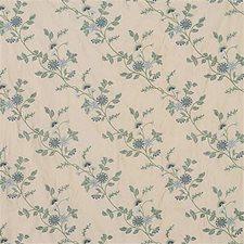 Aqua/Gr Silk Decorator Fabric by G P & J Baker
