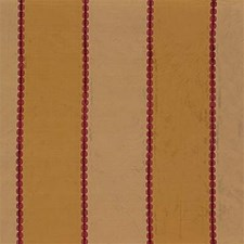 Red/Gold Stripes Decorator Fabric by G P & J Baker