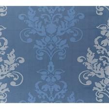 Twilight Blue Damask Decorator Fabric by Brunschwig & Fils