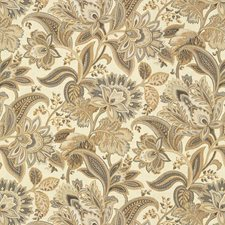 White/Brown/Grey Botanical Decorator Fabric by Kravet