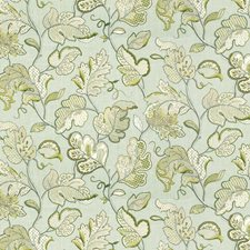 Light Blue/Beige/Green Botanical Decorator Fabric by Kravet