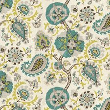 White/Grey/Light Blue Botanical Decorator Fabric by Kravet