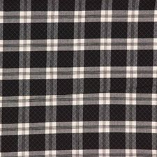 Black Plaid Decorator Fabric by Laura Ashley