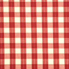 Raspberry Check Decorator Fabric by Baker Lifestyle