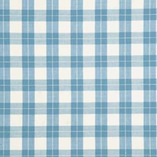 Blue Check Decorator Fabric by Baker Lifestyle