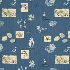 Denim Animal Decorator Fabric by Baker Lifestyle