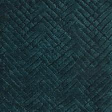 Emerald/Teal/Green Herringbone Decorator Fabric by Kravet