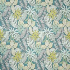 Aqua Damask Decorator Fabric by Pindler