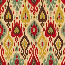 Beige/Blue/Burgundy Ikat Decorator Fabric by Kravet