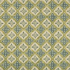 Ivory/Celery/Blue Small Scales Decorator Fabric by Kravet