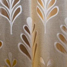 Brown/Creme/Beige Contemporary Decorator Fabric by JF