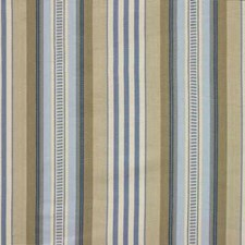 Blue/Cream Stripes Decorator Fabric by Baker Lifestyle