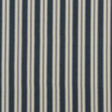 Indigo Stripes Decorator Fabric by Baker Lifestyle