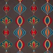 Teal/Spice Embroidery Decorator Fabric by Baker Lifestyle