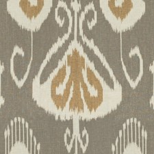 Stone/Cashew Ikat Decorator Fabric by Baker Lifestyle