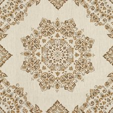 Taupe/Cashew Diamond Decorator Fabric by Baker Lifestyle