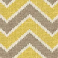 Taupe/Yellow Ethnic Decorator Fabric by Baker Lifestyle