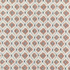 Indigo/Spice Print Decorator Fabric by Baker Lifestyle