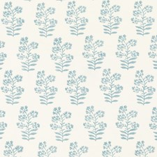 Soft Blue Print Decorator Fabric by Baker Lifestyle
