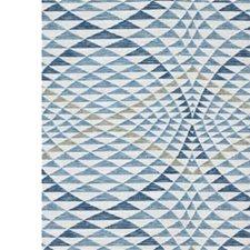 White/Blue Contemporary Decorator Fabric by Kravet