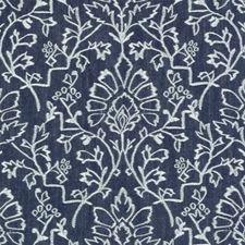 Denim Damask Decorator Fabric by Duralee