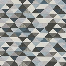 Blue/Turquoise Transitional Decorator Fabric by JF
