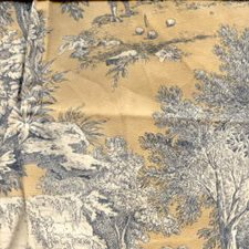 Black/Beige Toile Decorator Fabric by Kravet