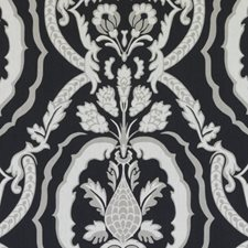 Black/White Damask Decorator Fabric by Duralee