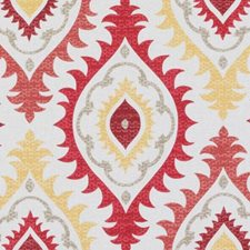Red/Clay Medallion Decorator Fabric by Duralee