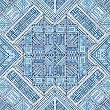 Blue Diamond Decorator Fabric by Duralee