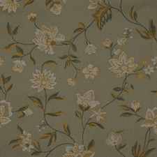 Green/Yellow/Gold Traditional Decorator Fabric by JF