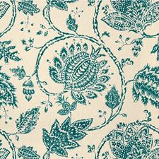 Turquoise Jacobeans Decorator Fabric by Kravet
