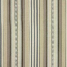 Aqua/Cream Stripes Decorator Fabric by Baker Lifestyle