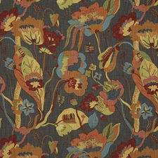 Spice/Charcoal Decorator Fabric by G P & J Baker